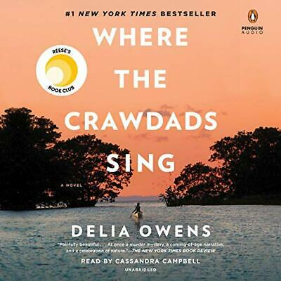 Where the Crawdads Sing by Delia Owens- Audible + Book FREE SHIPPING