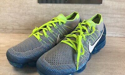 "Nike Air VaporMax Flyknit ""Sprite"" Wolf Grey/Chlorine Blue 849558-022 Size 11"