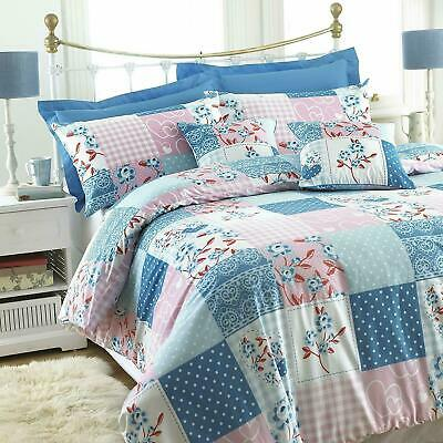 Luxury Patchwork Duvet Cover May Fair Quilt Bedding Set Single Double King Size