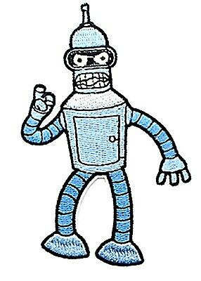 Futurama Television Show Bender The Robot Face Embroidered Patch