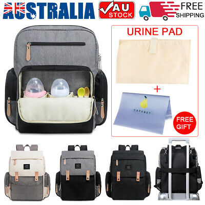 2019 LAND Mummy Bag Multifunctional Baby Diaper Luxury Backpack Changing Nappy
