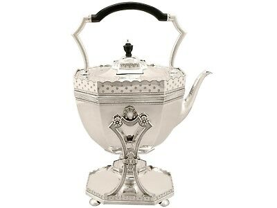 Sterling Silver Spirit Kettle by Dobson & Sons Antique Victorian