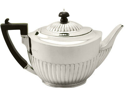 Sterling Silver Teapot Queen Anne Style Antique