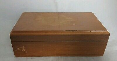 Beautiful Vintage Wooden Storage Box (Width - 19 cm)
