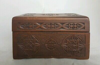 Beautiful Vintage Wooden Storage Box (Width - 15 cm)