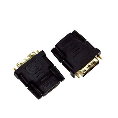 DVI-D Male (24+1 pin) to HDMI Female (19-pin) HD HDTV Monitor Display Adapter