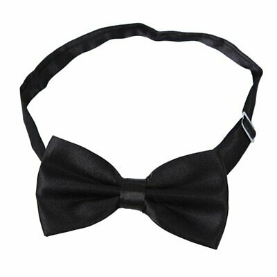 2X(Satin Tuxedo Cummerbund+Bow Tie +Hanky Set Prom Wedding Black J7C7)