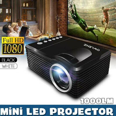 Office Mini Projector Portable Theater USB/SD/AV Port Video Projector Teaching