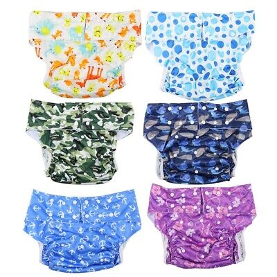 Elderly/Adult Cloth Diapers Nappy Briefs Pants for Bedwetting Incontinence