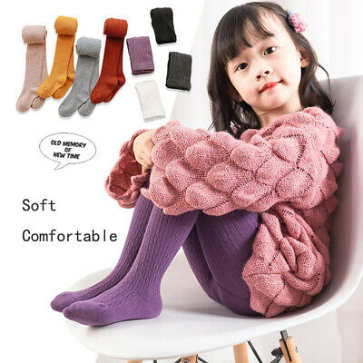 S-XL Autumn Children Girls Pantyhose Cotton Knited Toddlers Baby Long Tights H