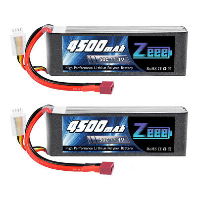 2x Zeee 50C 4500mAh 11.1V 3S Deans Lipo Battery for RC Helicopter Airplane Car