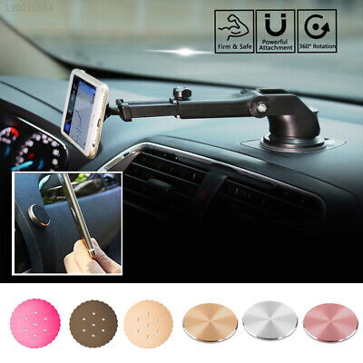 Cellphone Car Phone Mount Universal Dashboard Round Magnetic Metal Plate GPS