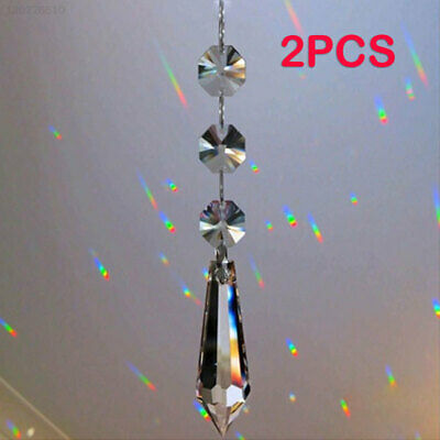 Festival Rainbow Prism Practical Wedding 2pcs Garland Strand Curtain Pendants