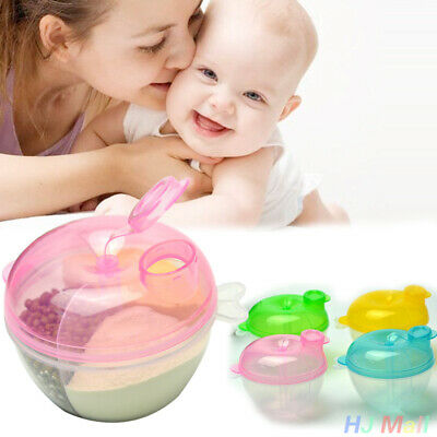 Portable Baby Infant Travel Milk Powder Dispenser Container Storage Box Case