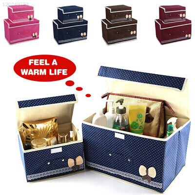 432D Home Storage Box Folding Office 2Pcs/Set Container Case Household Supplies