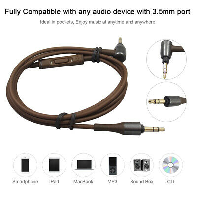 Replacement 1.2M PVC Upgrade Audio Earphone Cable Wire for ATH-MSR7 TH1179