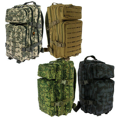 36L Laser Cut Tactical Assault Molle Backpack Rucksack Camping Travel Army Bag