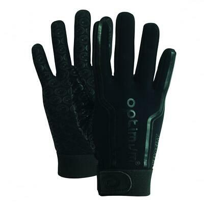 Optimum Sport Velocity Rugby Winter Gloves in Black with Elasticated Wrist