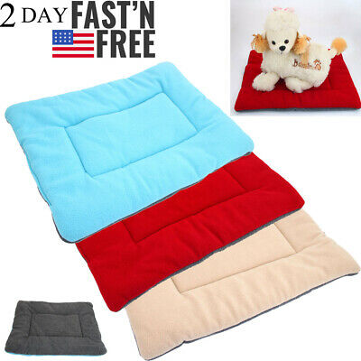 Large Pet Bed for Dog Cat Crate Mat Soft Warm Pad Liner Indoor Outdoor Washable