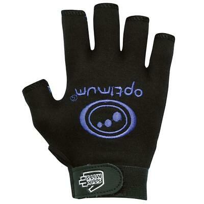 Optimum Junior Sports Rugby Gloves in Black / Blue with Elasticated Wrist