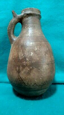 Vintage/Primitive Large Rounded Terra Cotta Moroccan Water Jar
