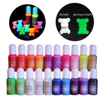 Luminous Pigment Dye UV Resin Epoxy DIY Making Crafts Jewelry Supply 20 Colors F