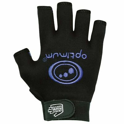 Optimum Sports Rugby Gloves in Black / Blue with Elasticated Wrist