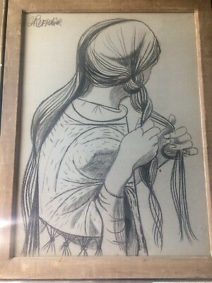 Art Rare This Is Drawing Signed By Anton Refregier From 1960
