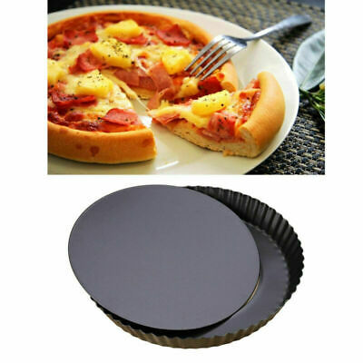 Non-stick Pizza Pan Baking Tray Dish Removable Bottom Quiche Pan Tart Pie Pan