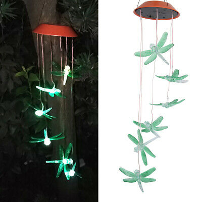 1PC Wind Chime Light Colorful Hanging Night Light LED Lamp for Porch Courtyard