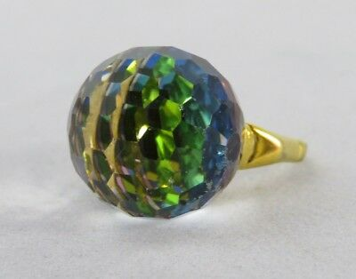 Vendome Faceted Crystal Ball Ring, Clear To Multi-Color, Vogue Magazine Piece