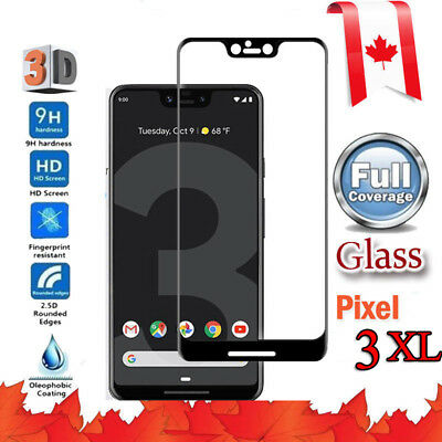 3D Full Coverage Tempered Glass Screen Protector For Google Pixel 2 3 XL 2XL 3XL