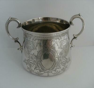 Beautiful Victorian Solid Silver Bowl Sucrier London 1847 371.1g