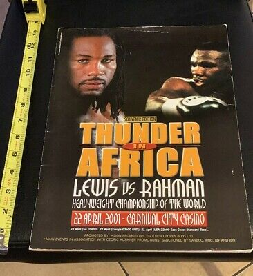 Original Vintage Lennox Lewis vs Frans Botha Boxing Fight Program Scorebook