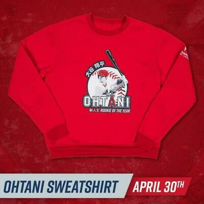 Shohei Ohtani Rookie Of The Year ROY Los Angeles Angels SGA sweatshirt XL
