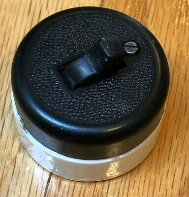 Vintage Round Switch Wall Light 110-120 Volt Antique Residential Home Commercial