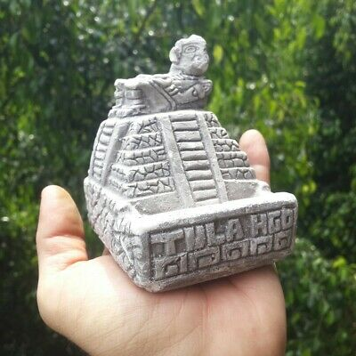 Pre Columbian Mexico Toltec Pyramid With God On Top Aztec  Maya Hispanic Mexican