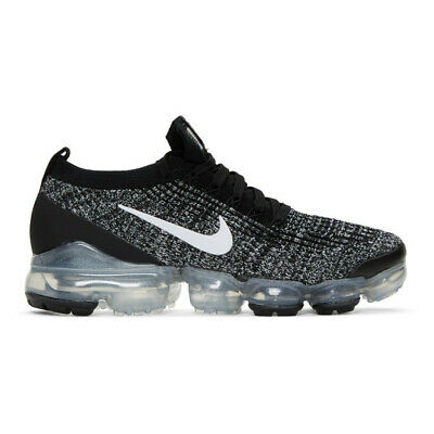 Nike Black and White Air Vapormax Flyknit 3 Sneakers