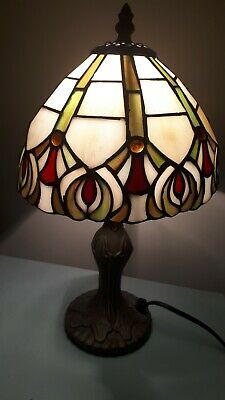 Handcrafter Stained Glass Tiffany Lamp