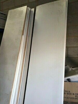 Used Retail shop fittings Melamine Timber Shelves (White) from w300 to 800m lots