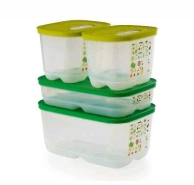 TUPPERWARE FridgeSmart Containers Set  FRUIT AND VEGETABLE KEEPERS - Free Ship