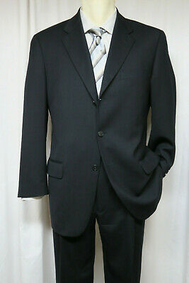 JOSEPH ABBOUD Navy Suit 40R 3 button 100% wool made in USA