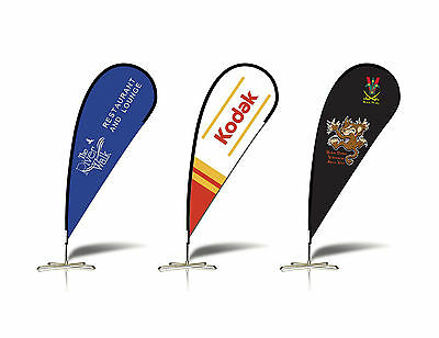 2.1m PERSONALIZED Teardrop Flag Banner Sign-FLAG ONLY (Exc Poles and Base)