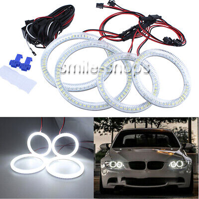 LED Angel Eyes Halo Rings Kit For 07-11 BMW E92 E93 3-Series M3 Coupe Headlights