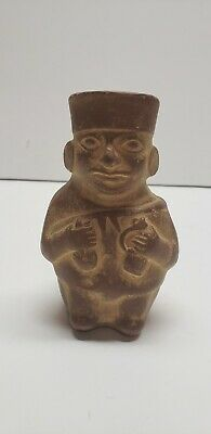 Colubian Moche Ancient  South American Pottery Statue