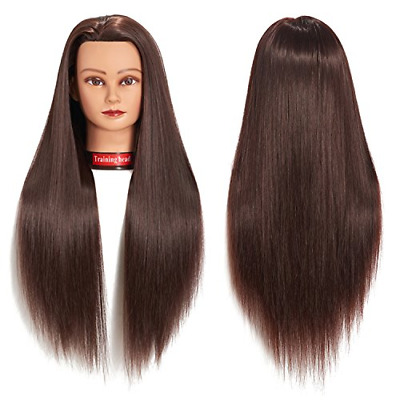 26-28 Cosmetology Mannequin Head Human Hair Hairdressing Training Model Doll