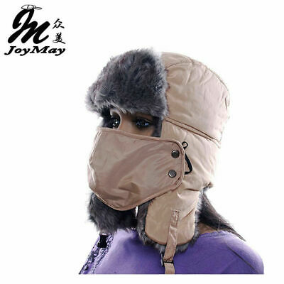 AKIZON High Quality winter Warm Proof Trapper Hat Women aviator hat Solid color