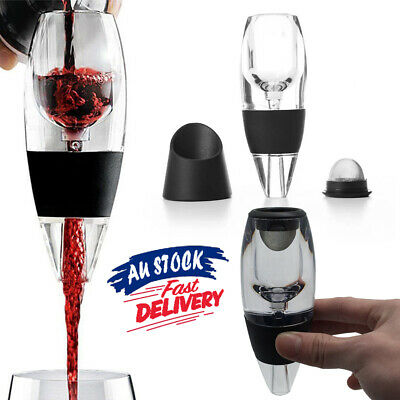 AU Decanter Essential and Magic Sediment Filter RED Wine Aerator