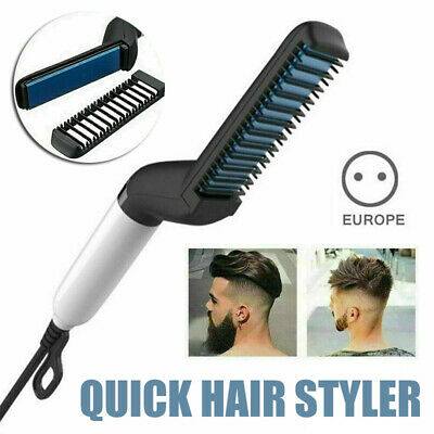 Quick Beard Straightener Multifunctional Hair Comb Curling Curler Show Cap Tool