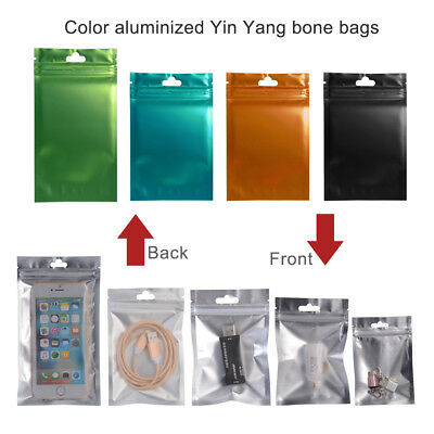 Resealable Zip Lock Bags Aluminum Foil Mylar Pouches Front Clear Food Grade Pack